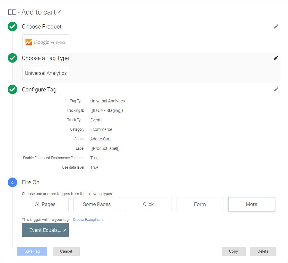Magento Google Tag Manager Enhanced Ecommerce (UA) Tracking