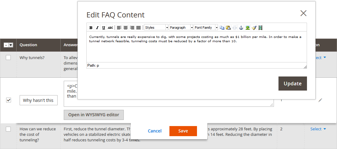 Magento 2 Product FAQ